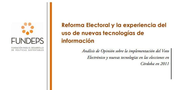 Informe de observación electoral en Córdoba